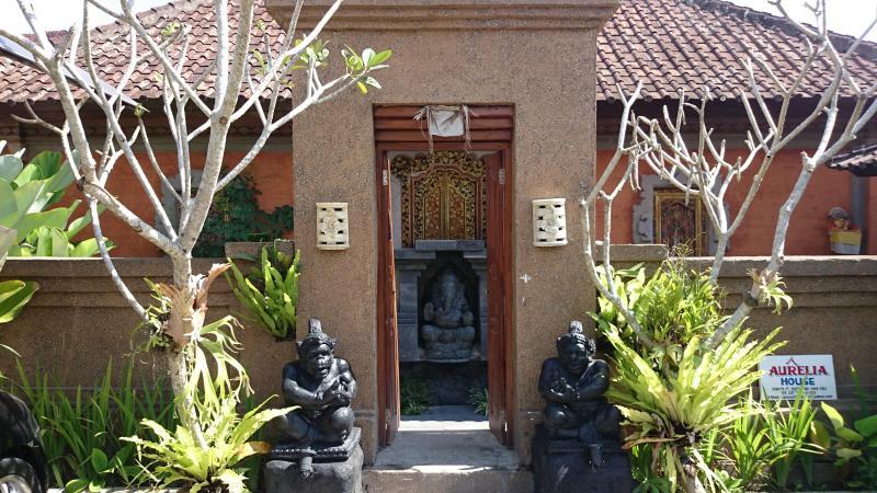 Enter through traditional Balinese entrance.