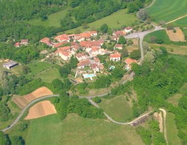 The cottage is on the upper left.