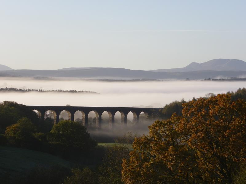 View of the Cynghordy Viaduct from Llanerchindda Farm