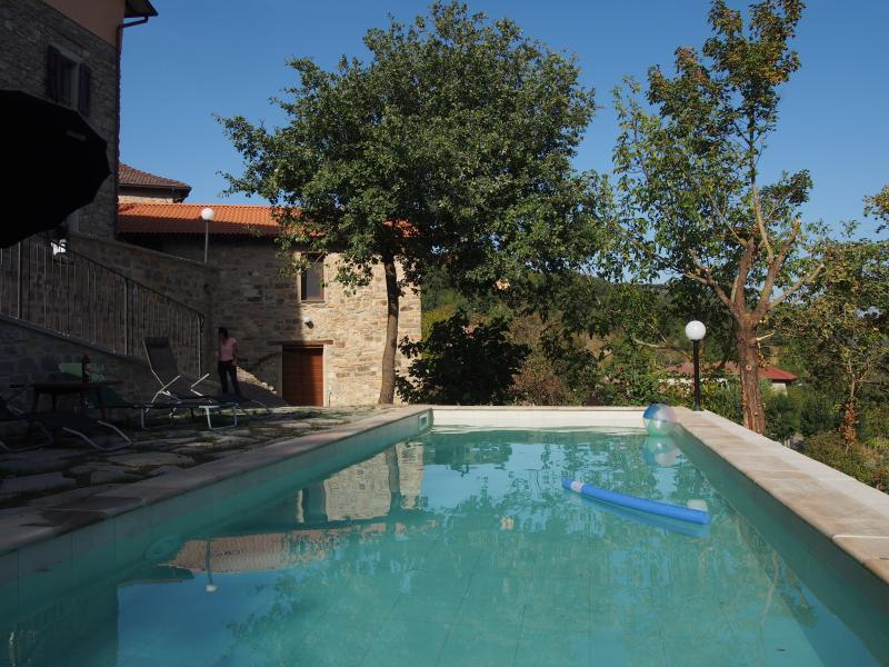 The shared pool is in a sheltered position with wonderful views