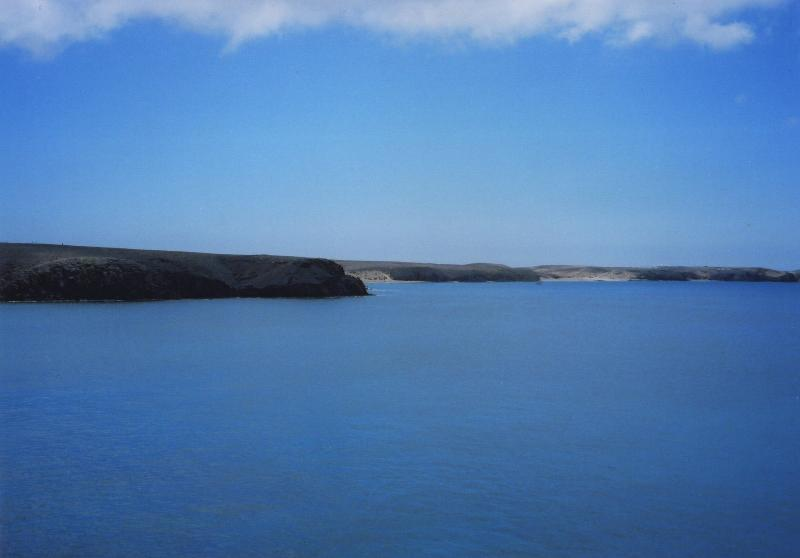 View of the Papagayo beaches from the sea path, just a two minute walk away.