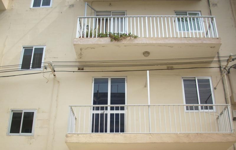 a very sunny balcony