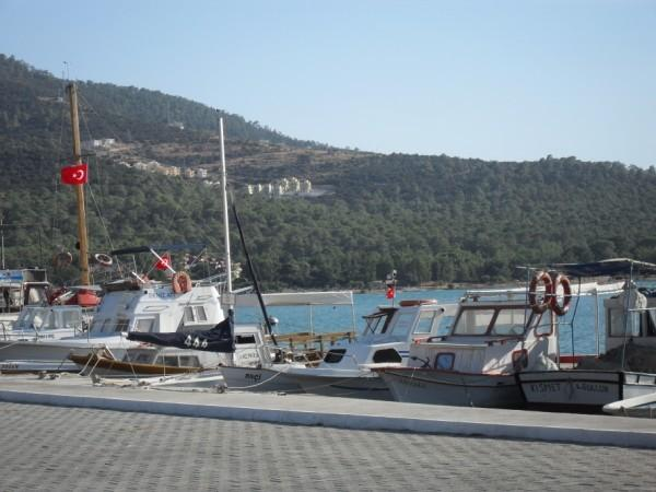 Akbuk Harbour with villa location in the background
