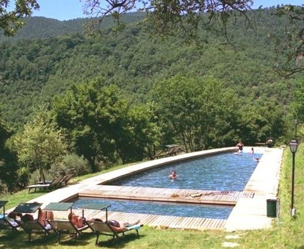 The swimming pool with its panoramic views