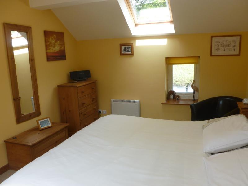 Super king size bed, plenty of storage room.