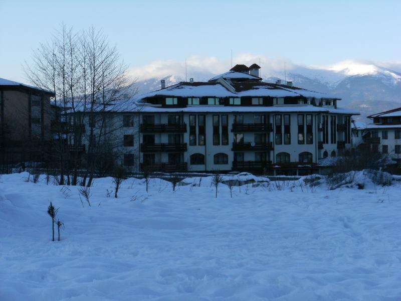 Cedar lodge viewed from the ski lift