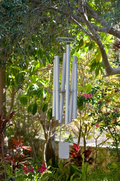 Beautiful sound from the wind chimes
