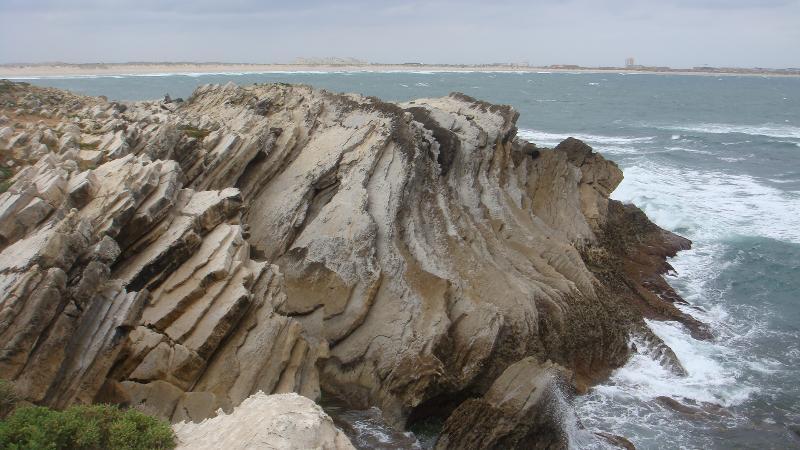 Stunning coast line near the fishing port of Peniche