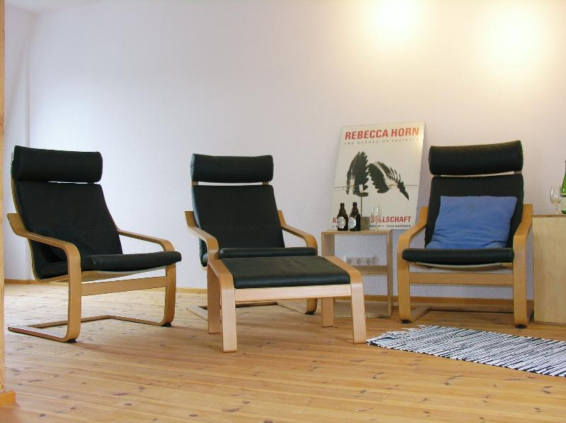 The loft style lounge with trendy chairs