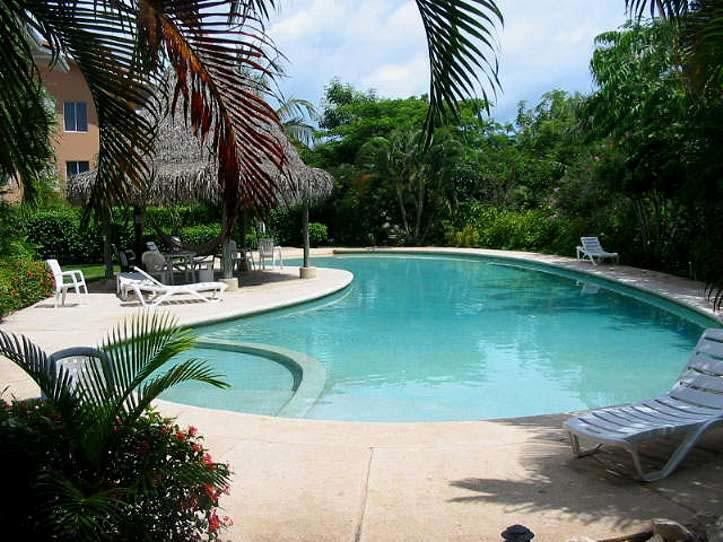 The pool is very beautiful