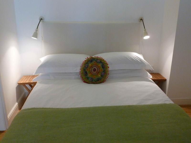 Quality cotton bed linen, feather pillows and wool blankets