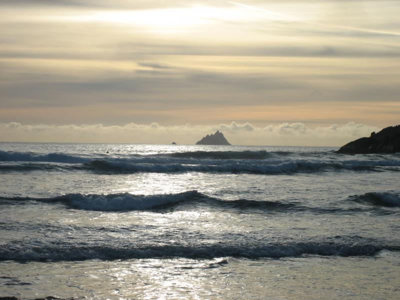skelligs as the sun goes down