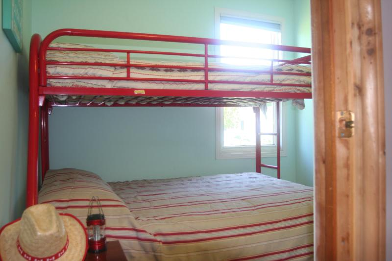 Bedroom #2 Single over double bunk bed