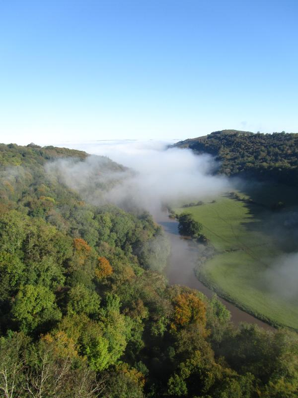 A misty morning over the river Wye