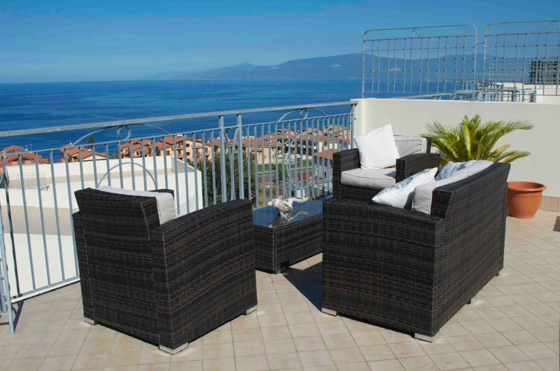 Relax with stunning sea views.