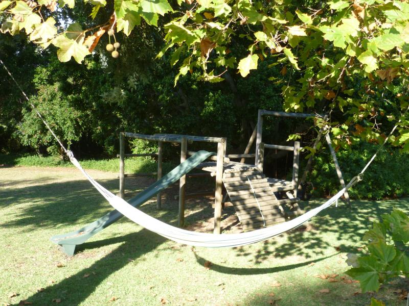 Climbing Frame with slide and swings - and hammock