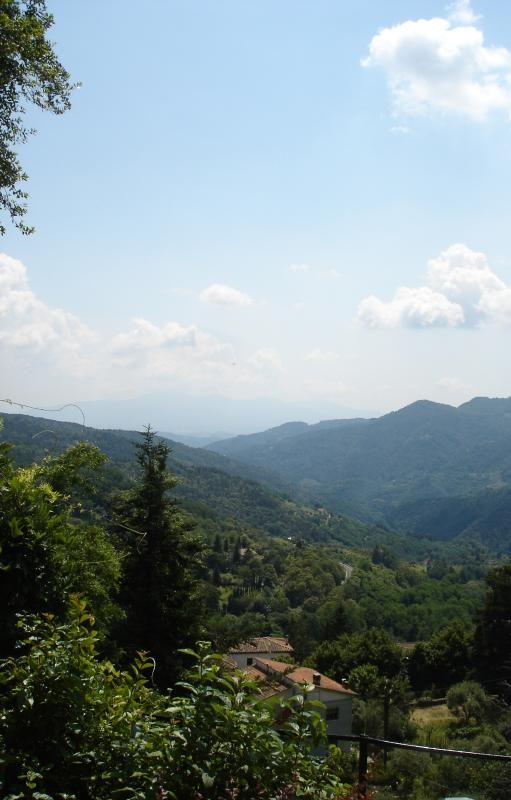 The Pescia Valley from Casa Verde holiday let