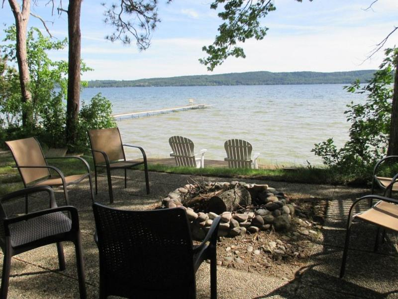 lakeside fire pit with great view!