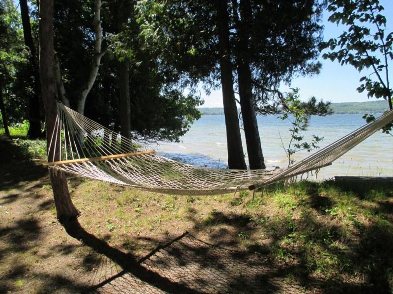 hammock with lake view