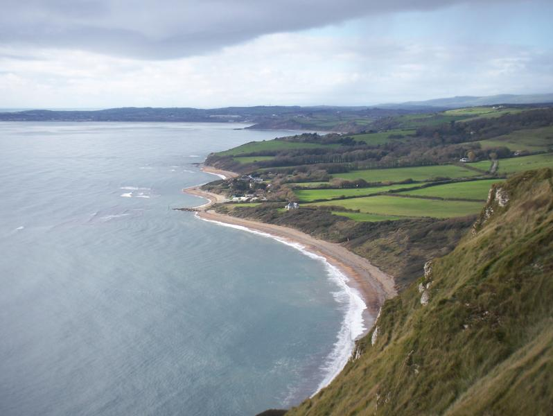 View of Ringstead Bay, 14km West of Rosehill