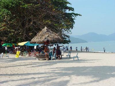 The beach across the road