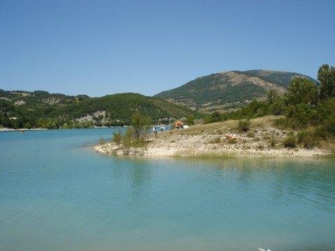 The beautiful Lake Fiastra - not far away by car