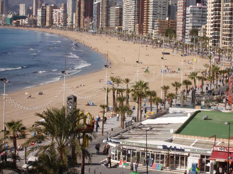 View of Levante beach from the Livingroom