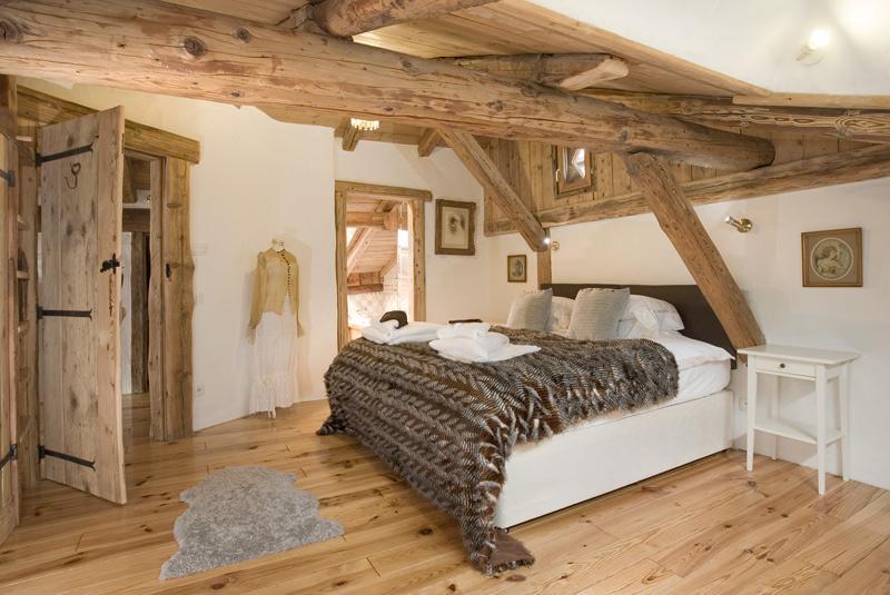 Spacious master bedroom on mezzanine