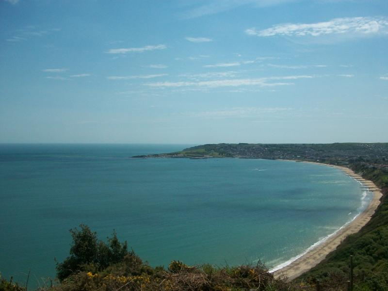 View from the clifftops of Studland Bay