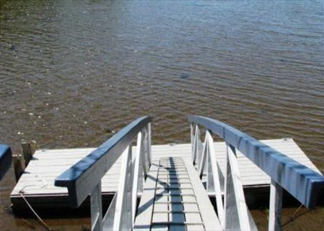 The ramp and dock. Kayak or swim from here!