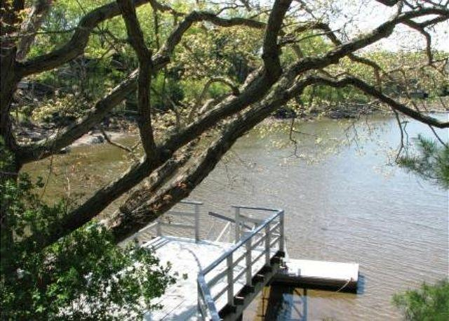 view of the dock from the house.