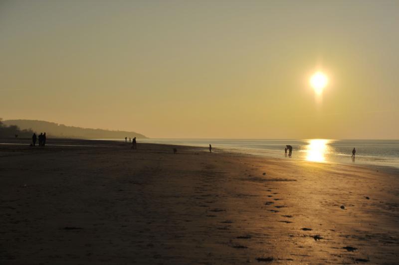 Sunset on Honfleur beach