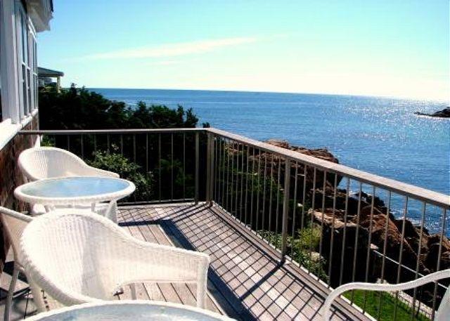 Deck overlooking the ocean and Good Harbor Beach.