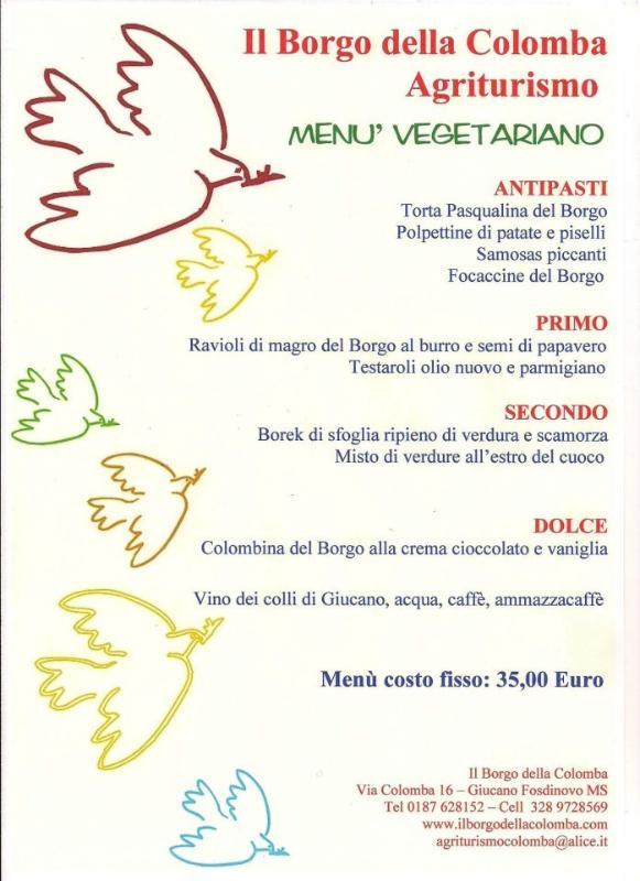 A sample menu