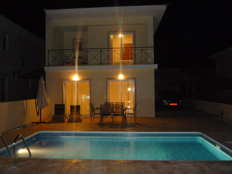 Private Pool at night for relaxing