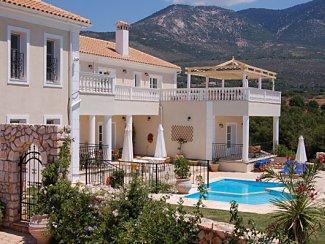 Villa Loukia the luxury of private gated grounds with fabulous far-reaching sea and mountain views