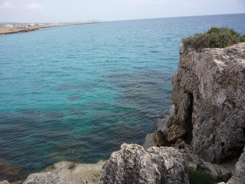 Beautiful blue lagoon, Agia Napa