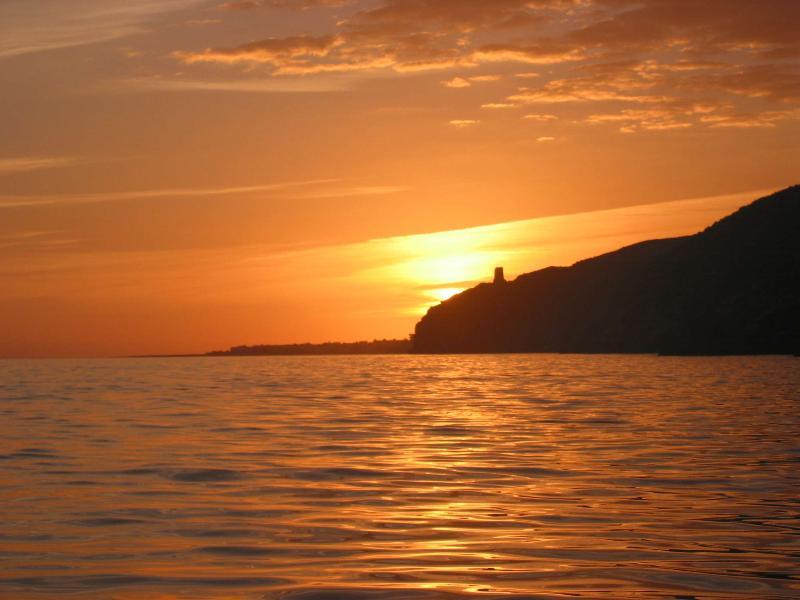 Sunset on Rijana beach, just 15 mins away