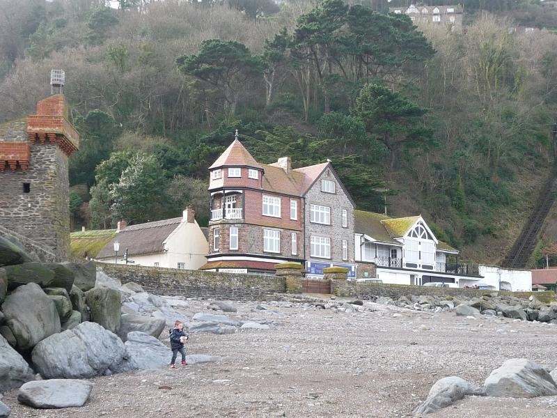 Harbour Point from Lynmouth Beach