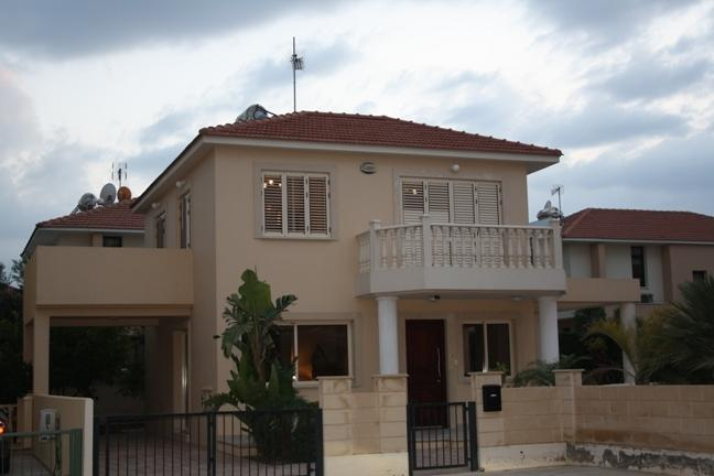 Outside the front of the villa