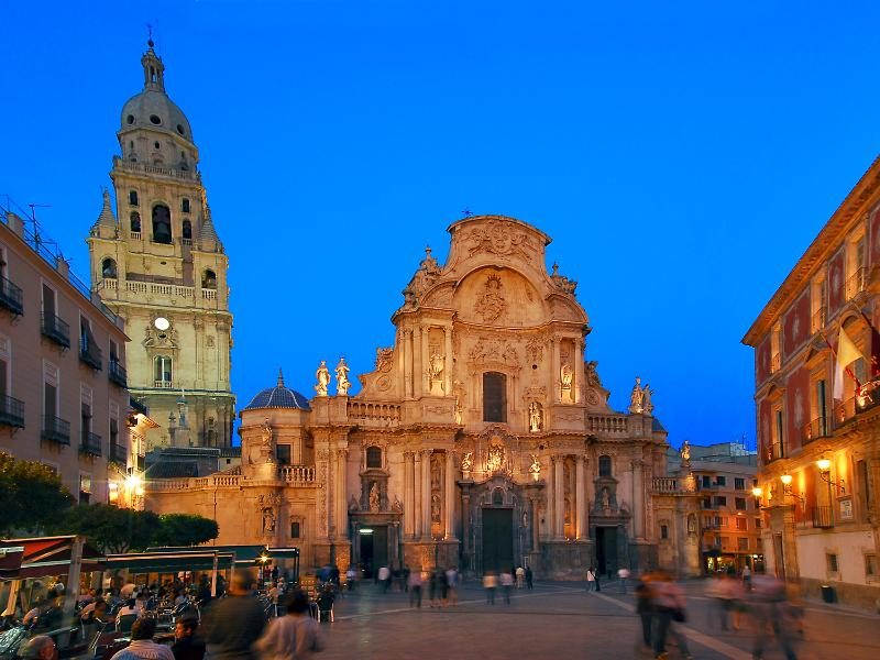 The Cathedral Church of St Mary in Murcia City