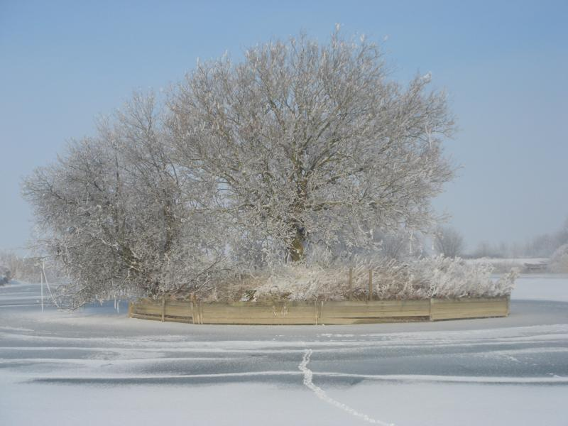 Views of the main lake in different seasons
