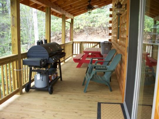 Private covered deck