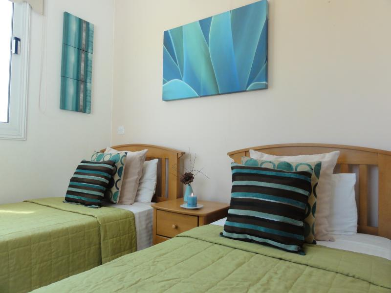 Bright and colourful bedroom