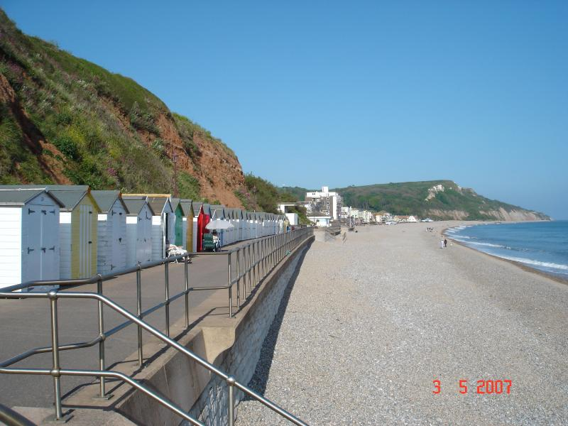 Driftwood: Spacious property with stunning sea views & beach hut at the seafront, holiday rental in Seaton
