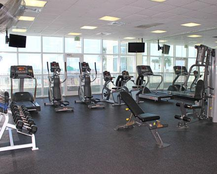 Onsite fitness center for the fitness enthusiast.