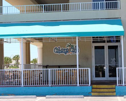 Or to the Cabana Cafe in the Arial Dunes.
