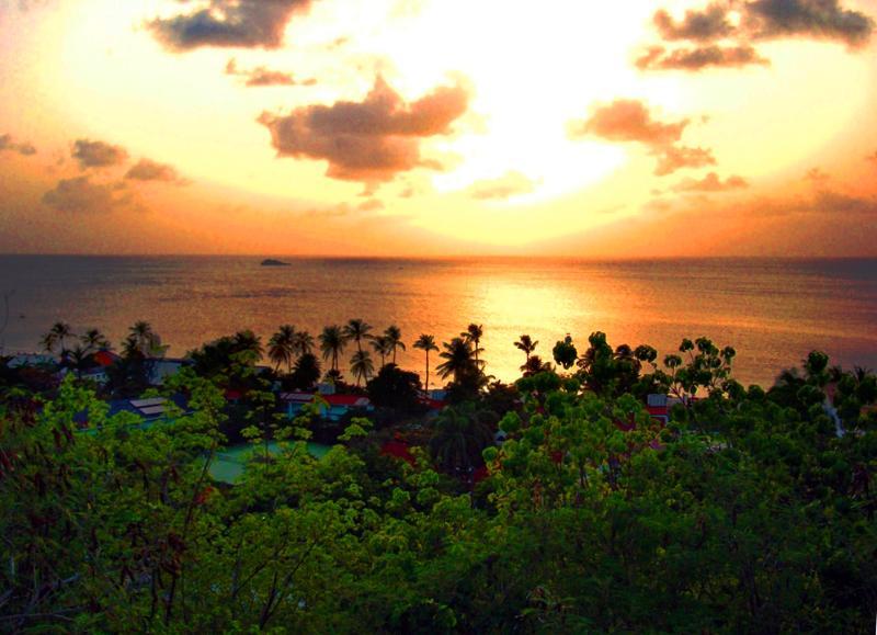 Stunning sunset from the villa