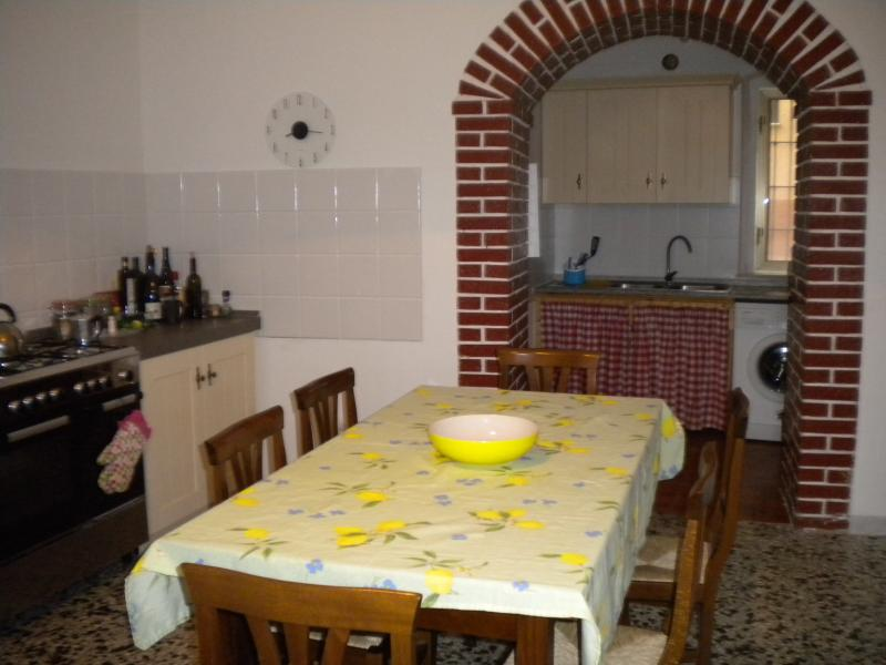 Well equipped kitchen and utility room