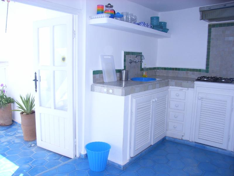 kitchen leading to terrace
